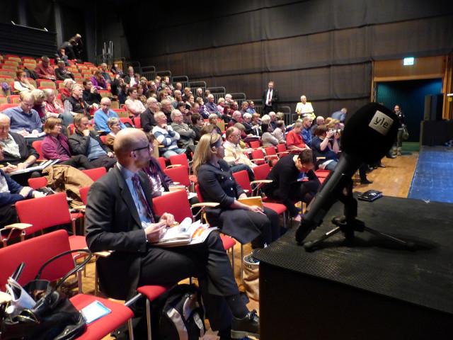 Många intresserade och även finska YLE var på plats.